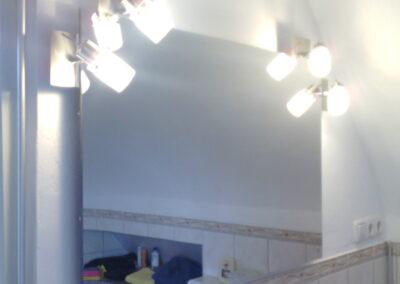 Photonenheizung als Spiegelheizung beleuchtet