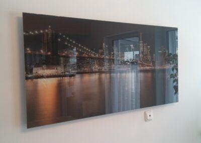 Photonenheizung als Glasbildheizungmit Beleuchtung