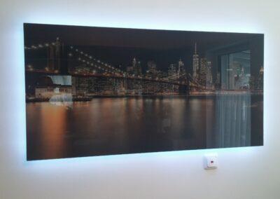 Photonenheizung als Glasbildheizung beleuchtet